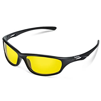 100540dc6705 Duduma Yellow Night Vision Polarized Sunglasses Glasses for Driving Fishing  Shooting Multicolor Frame Uv400(650 Black Matte Frame with Yellow Lens)  ...