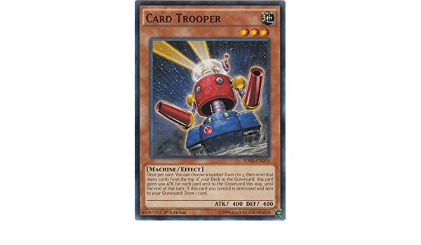 Card Trooper SDHS-EN015 Common Yu-Gi-Oh Card 1st Edition New