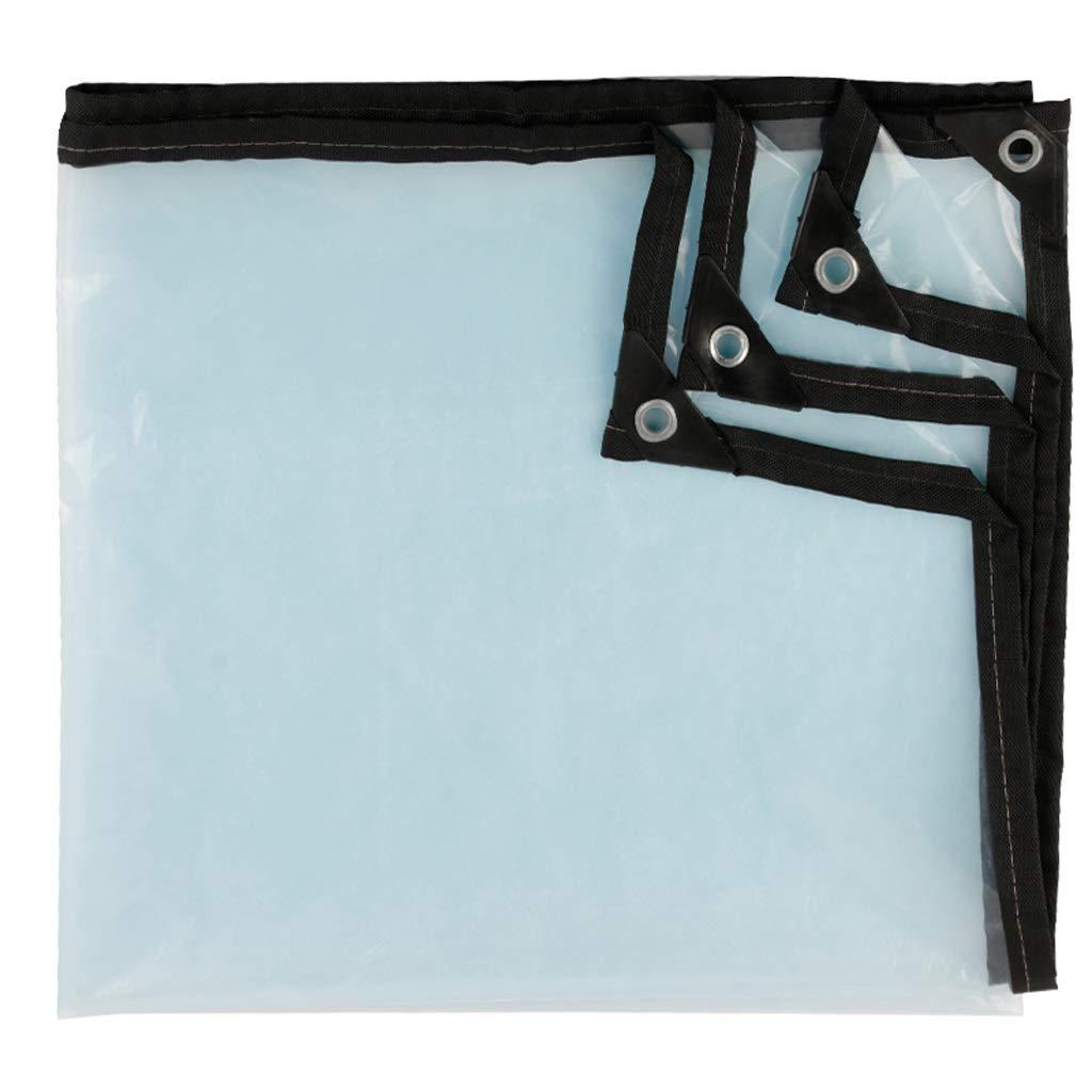 1.5MX1.5M  Feuille en plastique de poncho rembourré par bÂche transparente imperméable avec la couverture de pare-poussière de grenier extérieure perforée couvrant la fenêtre anti-balcon humide poncho froid s