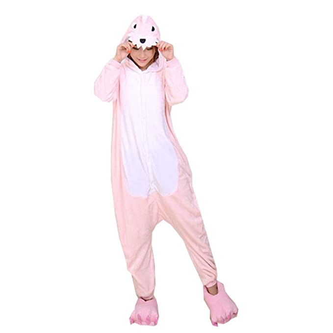 WTUS- Pijama, Unisex, Kigurumi,Capucha de Forro Polar, Disfraz Cosplay Traje