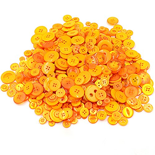 Freedi 660Pcs Resin Buttons for Sewing Scrapbooking DIY Handmade Crafts Assorted Size (Yellow) - Handmade Resin Buttons