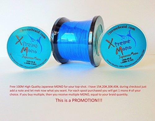 8 Slicks 65# BLUE Braids 1093 yds L.A. Stock (PROMOTION PRICE)