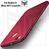 TheGiftKart Redmi 4 Ultra Slim Matte Velvet Feel Hard Back Cover - Wine Red
