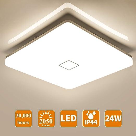 12W LED Deckenleuchte Badleuchte Küche Panel Wohnzimmer Deckenlampe Lampe IP44