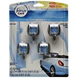 Febreze Car Vent Clip Heavy Duty Crisp Clean Air Freshener, 4 Count