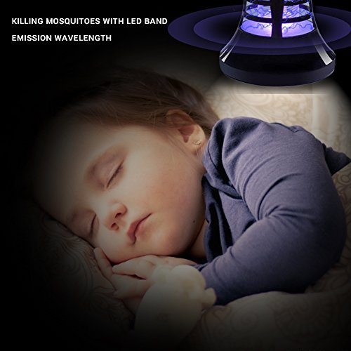 AUKUK 2018 Upgraded Bug Zapper Lantern - 2 IN 1 Mosquito Killer Lamp & Night LED Light - USB and Solar Charging - Lightweight,No noiseand Portable for Indoor&Outdoor, Home&Camping by AUKUK (Image #4)