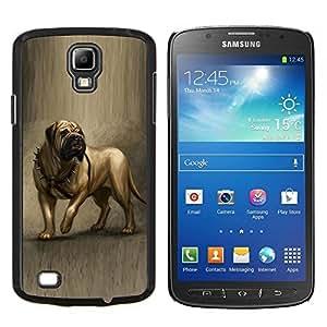 TECHCASE---Cubierta de la caja de protección para la piel dura ** Samsung Galaxy S4 Active i9295 ** --Inglés Mastín Pintura del arte del perro canina