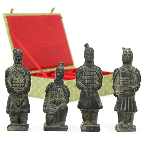 Oriental Terra Cotta (Oriental Furniture Box of 4 Terra Cotta Warriors)