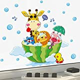 Kaimao Shower Time Cartoon Waterproof Wall Stickers Removable Murals DIY Decor For Bathroom Washroom
