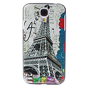 AES - Eiffel Tower And Text Pattern PC Hard Back Case For Samsung Galaxy S4 I9500
