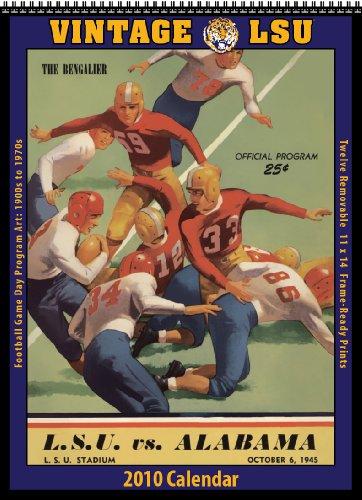 Vintage LSU Tigers 2010 Football Program Calendar