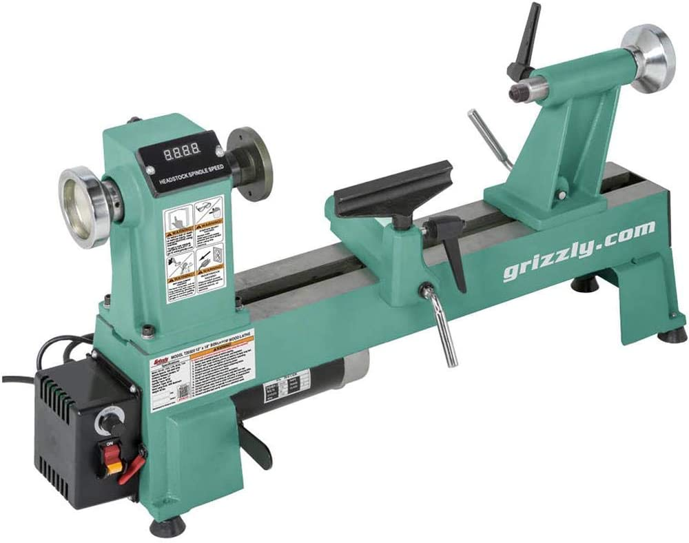 "Grizzly Industrial T25920-12"" x 18"" Benchtop best Wood Lathe"