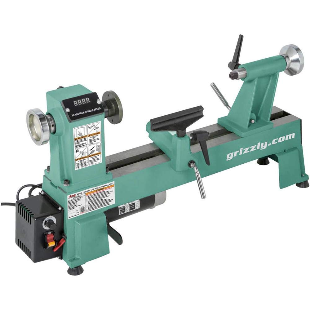 Grizzly Industrial T25920-12'' x 18'' Variable-Speed Benchtop Wood Lathe by Grizzly Industrial