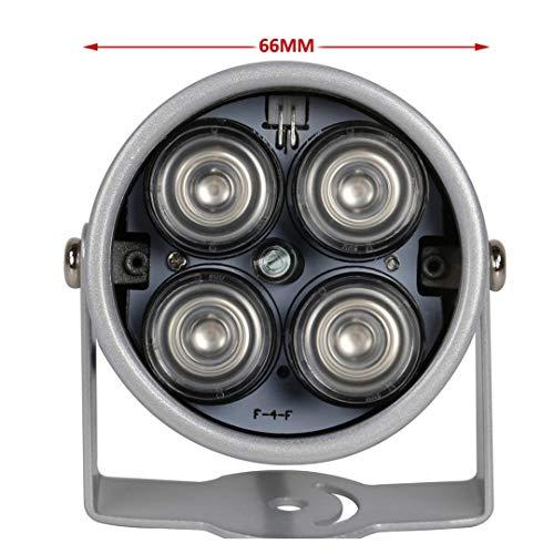 (LEDs 4 Array IR Led Illuminator Light IR Infrared Waterproof Night Vision CCTV Fill Light for CCTV Camera IP Camera Only LEDs)