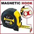 Kutir 25 Foot Retractable Measuring Tape with Magnetic Hook, Metric and Inches Measurement, Shock Absorbent Rubber Case from Kutir