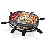 Best Raclette Grills - NutriChef Electric Two-Tier Raclette Grill - Removable Cooking Review