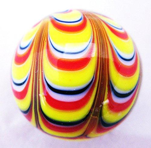Stripe Glass Ball - 25mm RAZZAMATAZZ Handmade art glass stripe design Marbles ball Large 1