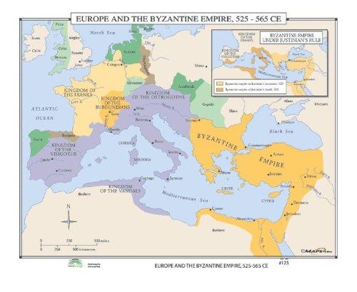World History Wall Maps - Europe & Byzantine Empire