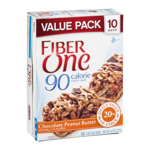 Fiber One 90 Calorie Chewy Bars Chocolate Peanut Butter - 10 CT
