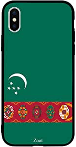 iPhone XS Max / 10s Max Case Cover Turkmenistan Flag Zoot High Quality Design Phone Covers