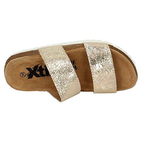 XTI 46671 Sandalias de Oro Mujer Sandalias Oro