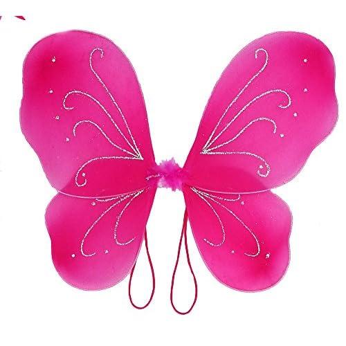 Girls Hot Pink Fairy Costume with Butterfly Wings Wand Tutu u0026 Halo 30%  sc 1 st  LA ArtLab & Girls Hot Pink Fairy Costume with Butterfly Wings Wand Tutu u0026 Halo ...