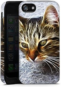 Apple iPhone 5S exterior Shell Militar carcasa gato gatito ...