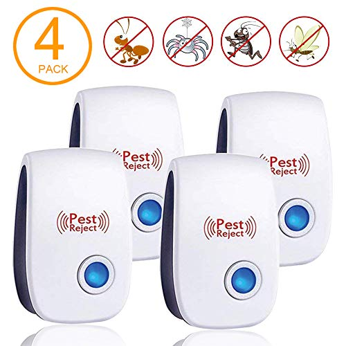 - Ultrasonic Pest Repeller Plug in Pest Control - Electric Mouse Repellent Repellent for Mosquito, Mice, Rat, Roach, Spider, Flea, Ant, Fly, Bed Bugs, Cockroach - No Traps Poison & Sprayers