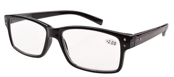 2a9171547d Eyekepper 5-pack Spring Hinges Vintage Reading Glasses Men Readers Black + 3.0  Amazon.co.uk  Health   Personal Care
