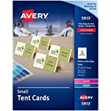 "Avery Small Ivory Tent Cards, Laser/Inkjet Printers, 2""x3-1/2"", Pack of 160 (5913)"