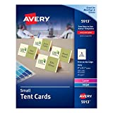 Avery Small Ivory Tent Cards, Laser/Inkjet Printers, 2''x3-1/2'', Pack of 160 (5913)