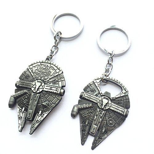 (2pcs) Asteriated™ Star Wars Millennium Falcon Replica Keychain Bottle Opener