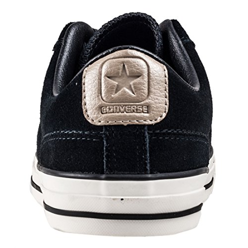 khaki egret Black Star Ox Suede Converse Trainers Mens Player WUvwqw401