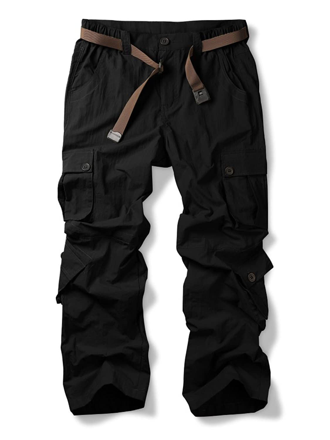 Jessie Kidden Men's Outdoor Casual Quick Dry Lightweight Breathable Hiking Fishing Cargo Pants with 8 Pockets #6052