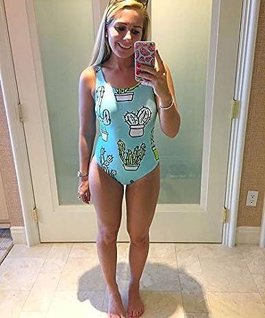 Charmemory Family Matching Baby Girl /& Mommy Cactus Swimsuit Bathing Suit Bikini Swimwear Beach Wear