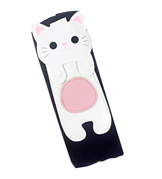 Comfysail Cute Cat Kawaii Large Capacity Canvas Waterproof Pencil Case Makeup Bag for Boys Girls School