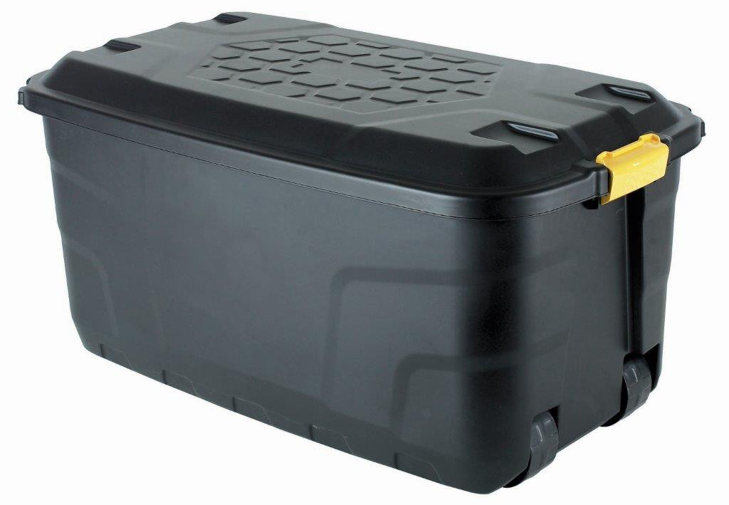 The Buffalo Box   Extra Long Wheeled 145 Litre Plastic Mobile Storage  Trunk, Toy Box, Garden, Tool Box: Amazon.co.uk: Kitchen U0026 Home