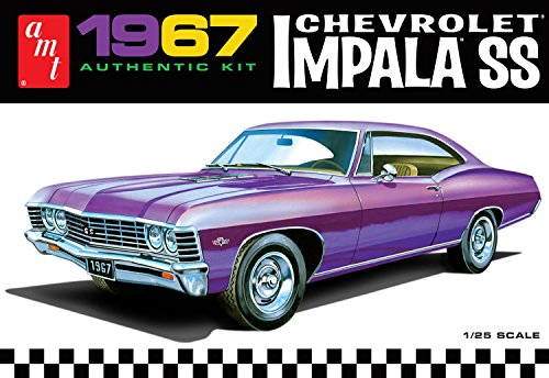 AMT 981 1967 Chevrolet Impala SS 1:25 Scale Plastic Model Kit - Requires Assembly ()