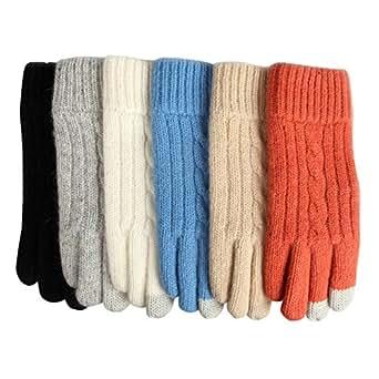 Amazon.com: Elma Womens Touchscreen Wool Knitted Winter