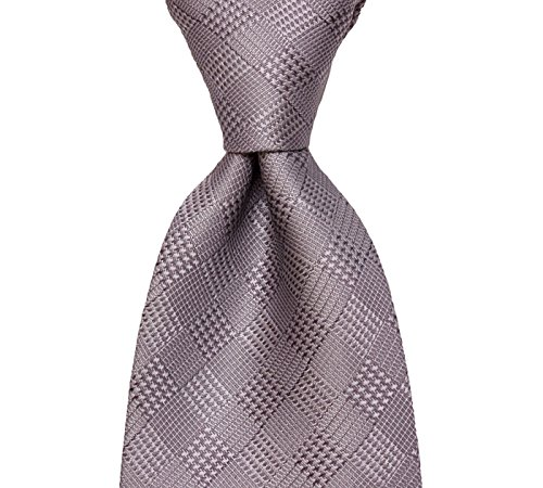 Gray Tie with Plaid Checked Silk Necktie by TieThis | The Salem Tie