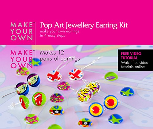 [Earring Jewelry Making Craft Kit (Pop Art) Make Your Own Jewelry Findings, Craft Supplies (Pop Art)] (Costumes For Adults Diy)