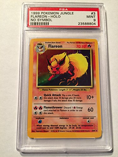 PSA-Mint-9-Flareon-Holo-Jungle-Error-Card-HAS-NO-JUNGLE-SYMBOL-364-Pokemon-Jungle-RARE-ERROR-CARD