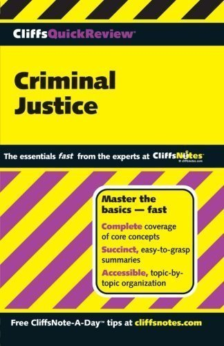 Download CliffsQuickReview Criminal Justice 1st edition by Hoffman, Dennis (2000) Paperback pdf epub
