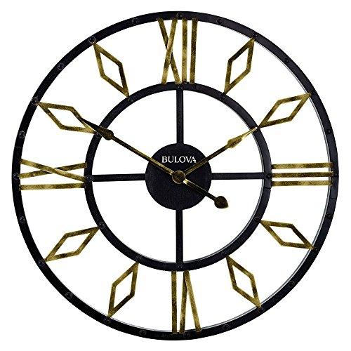 Bulova Diamond Gallery Wall Clock, (Bulova Mens Diamond Gold Watch)