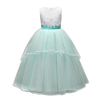 Vestido para niños Vestido de boda de la fiesta de cumpleaños del vestido de la princesa