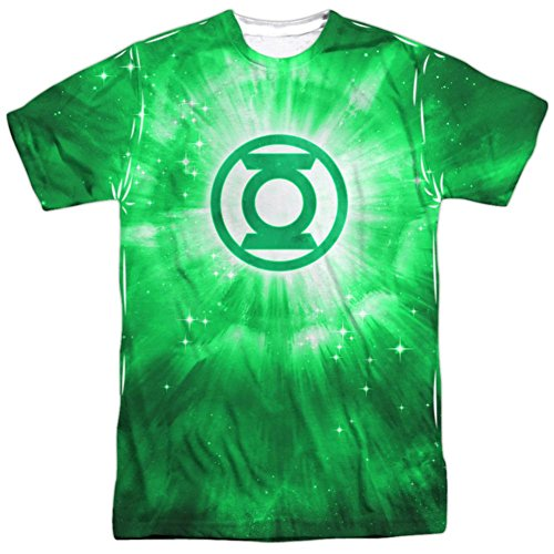 Radiant Logo -- Green Lantern All-Over Front Print Sports Fabric T-Shirt, Small