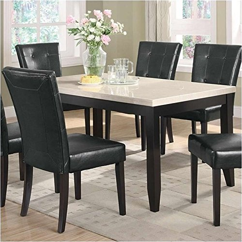 coaster home furnishings casual dining table cappuccino