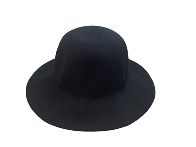 8bdf88981ee Image Unavailable. Image not available for. Color  Jtc Women s Round Top  Fedora Hat Black