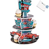 Bargain World Foam Rockin' 50's Cupcake Holder (With Sticky Notes)