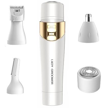 4 en 1 Sin Dolor Depiladoras Femeninas - Mini Depiladora Corporal Facial Electrica Sin Cable Depiladoras